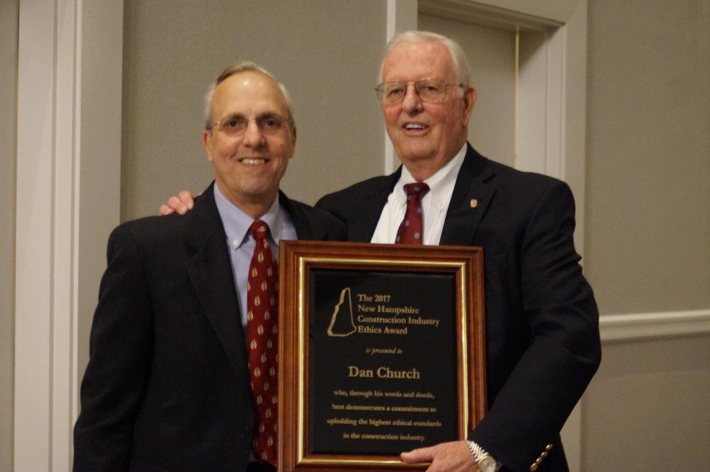 Dan Church awarded ethics award